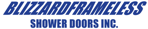 Blizzard Frameless Shower Door Logo